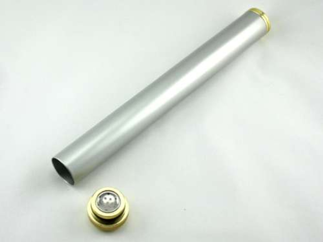 Silver Everett Cigar Tube with Humidifier