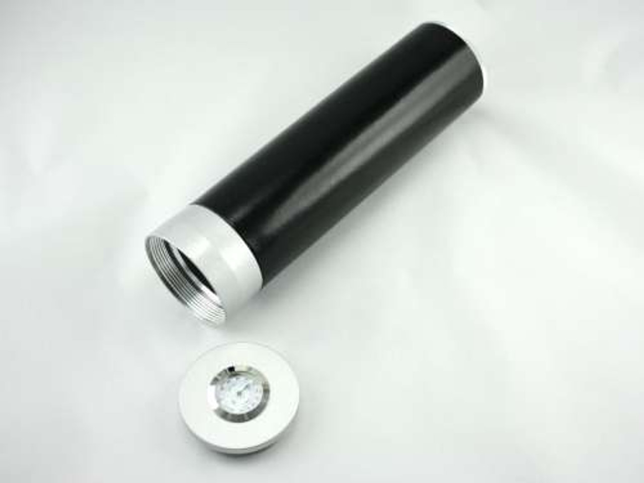 Black Regal Cigar Tube with Hygrometer and Humidifier