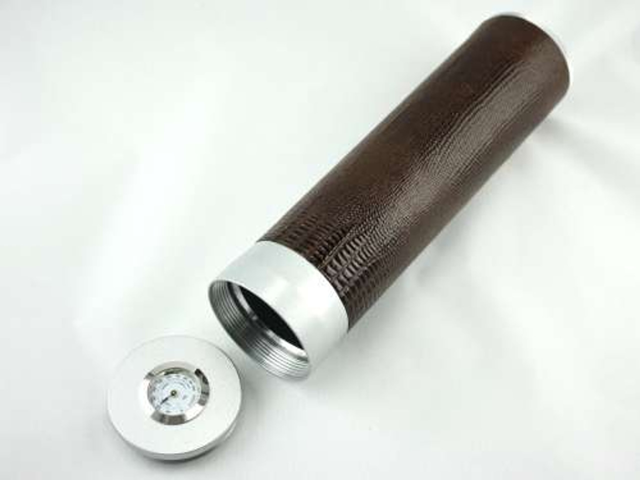 Brown Snake Regal Cigar Tube with Hygrometer and Humidifier