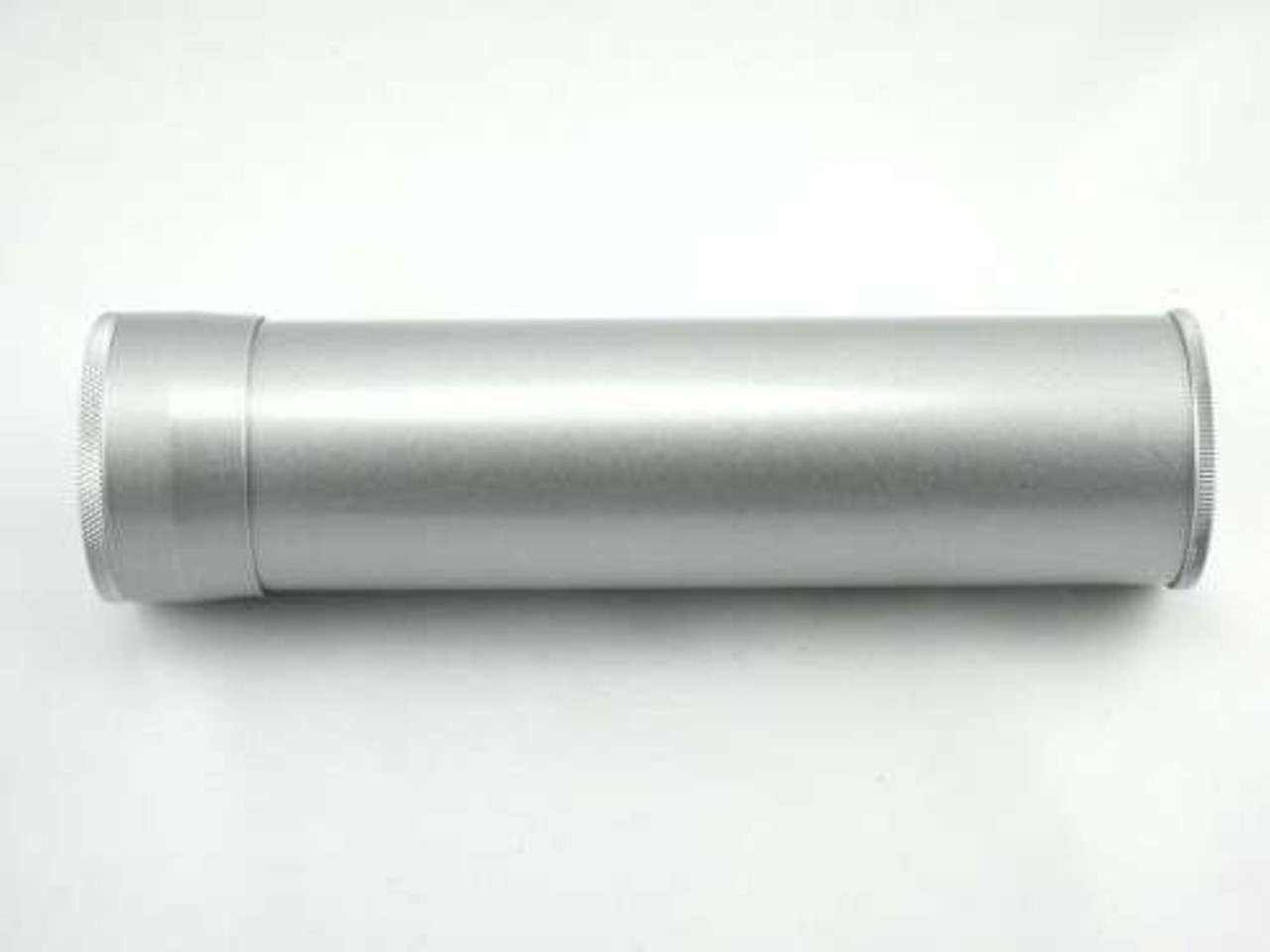 Silver Regal Cigar Tube with Hygrometer and Humidifier