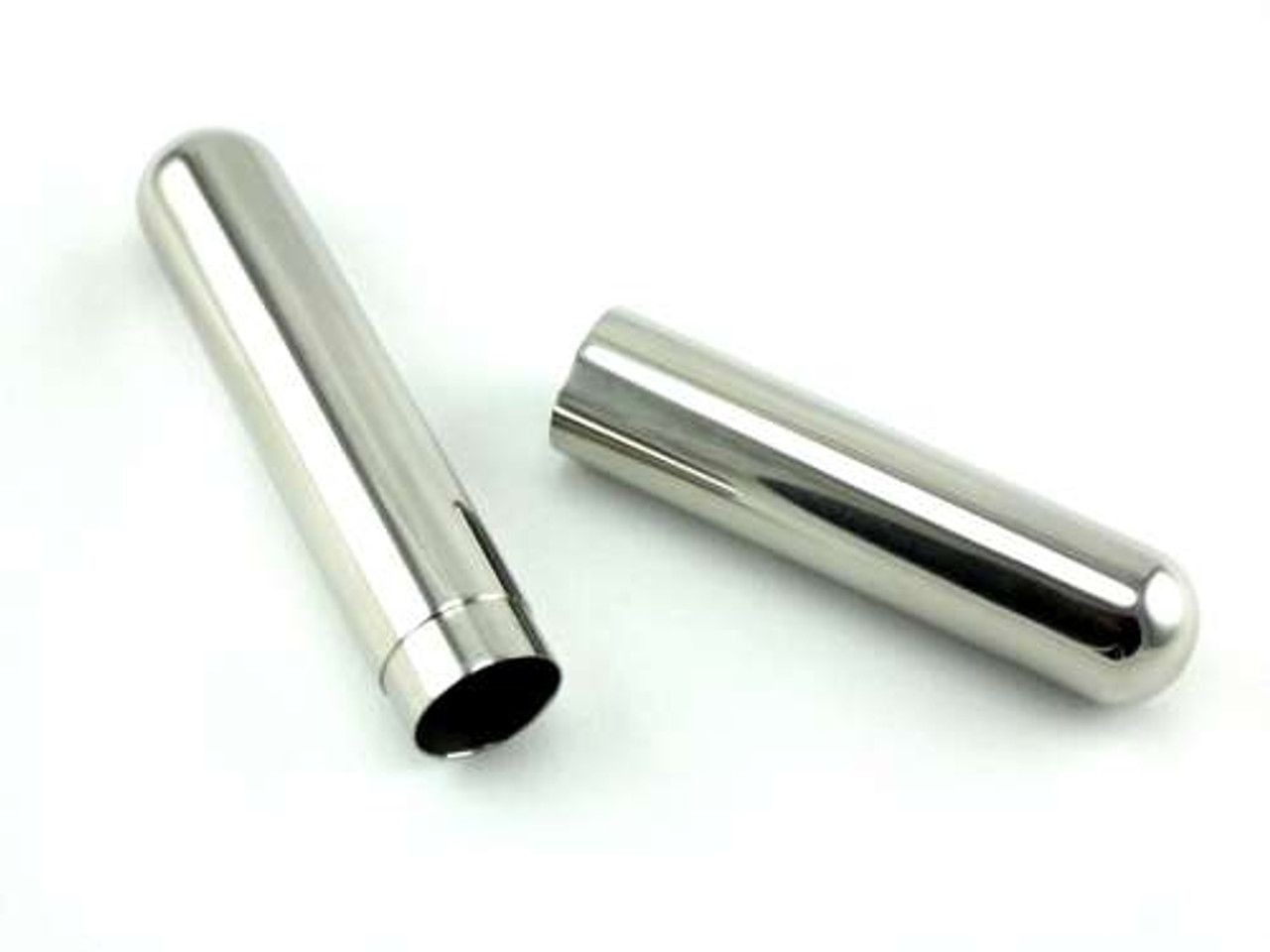 Silver Cigar Tube Gift Set with Flask and Cutter
