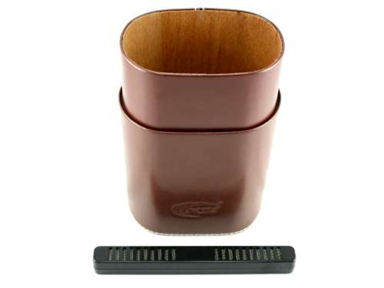 Dark Brown Belvedere Cigar Tube with Humidifier