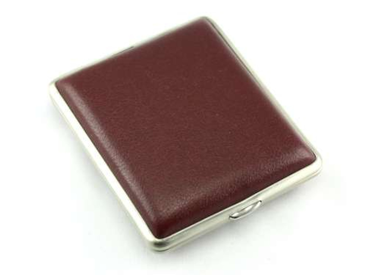 Lucienne Burgundy Leather Cigarette Case