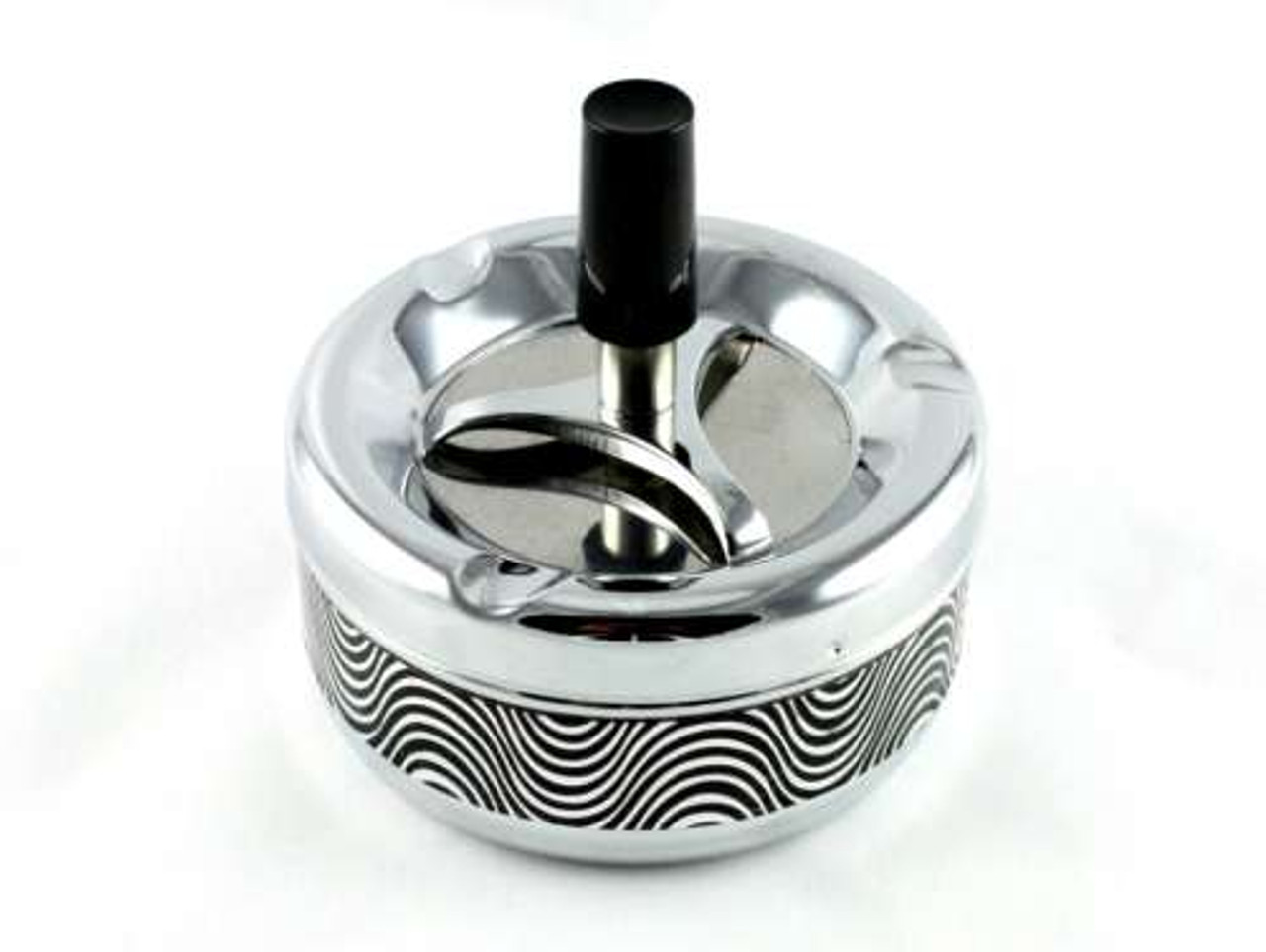 Black Wave Spinning Cigarette Ashtray