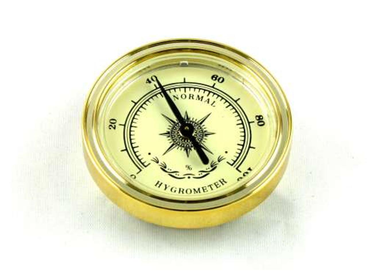 Bryce Gold Analog Cigar Hygrometer
