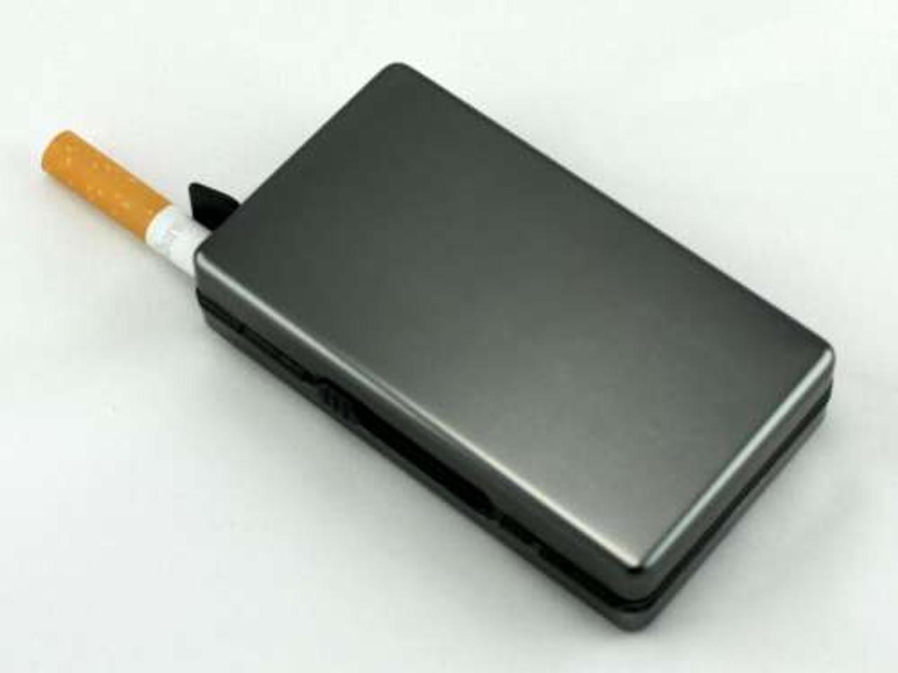 Charcoal Auto Slide Cigarette Case