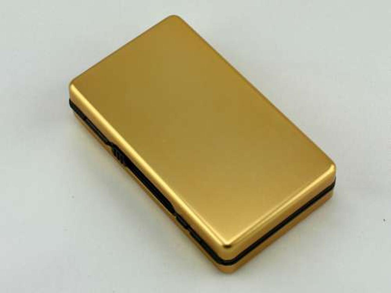 Gold Auto Slide Cigarette Case