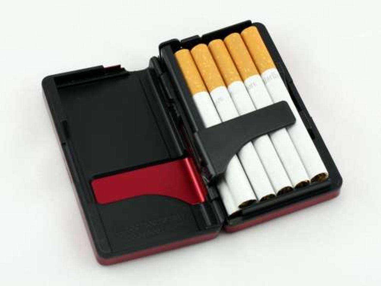 Red Auto Slide Cigarette Case