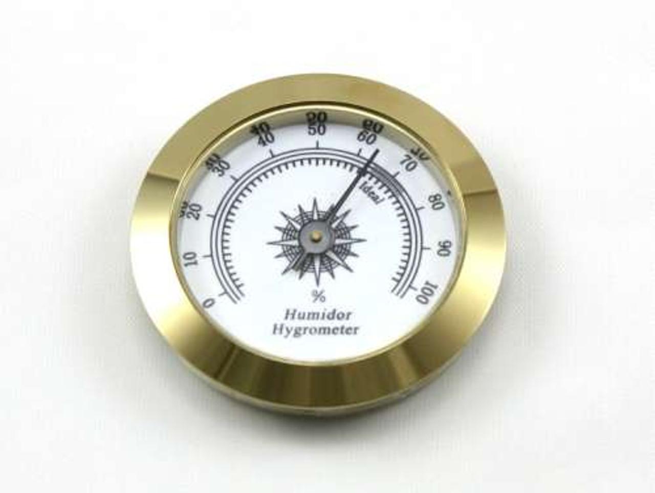 Gold Valentino Analog Cigar Hygrometer