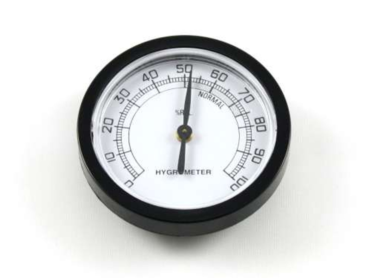 Black Sterling Analog Cigar Hygrometer