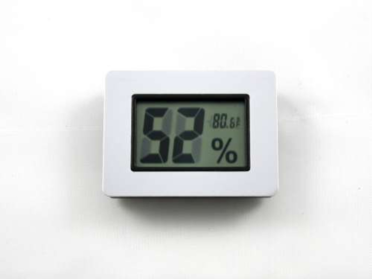 Silver Digital Cigar Hygrometer with Thermometer