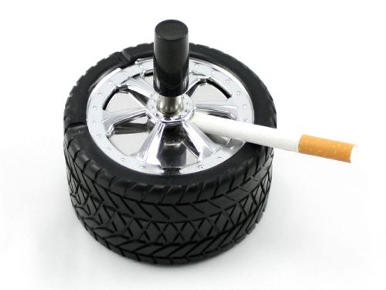 Wheel Spinning Cigarette Ashtray