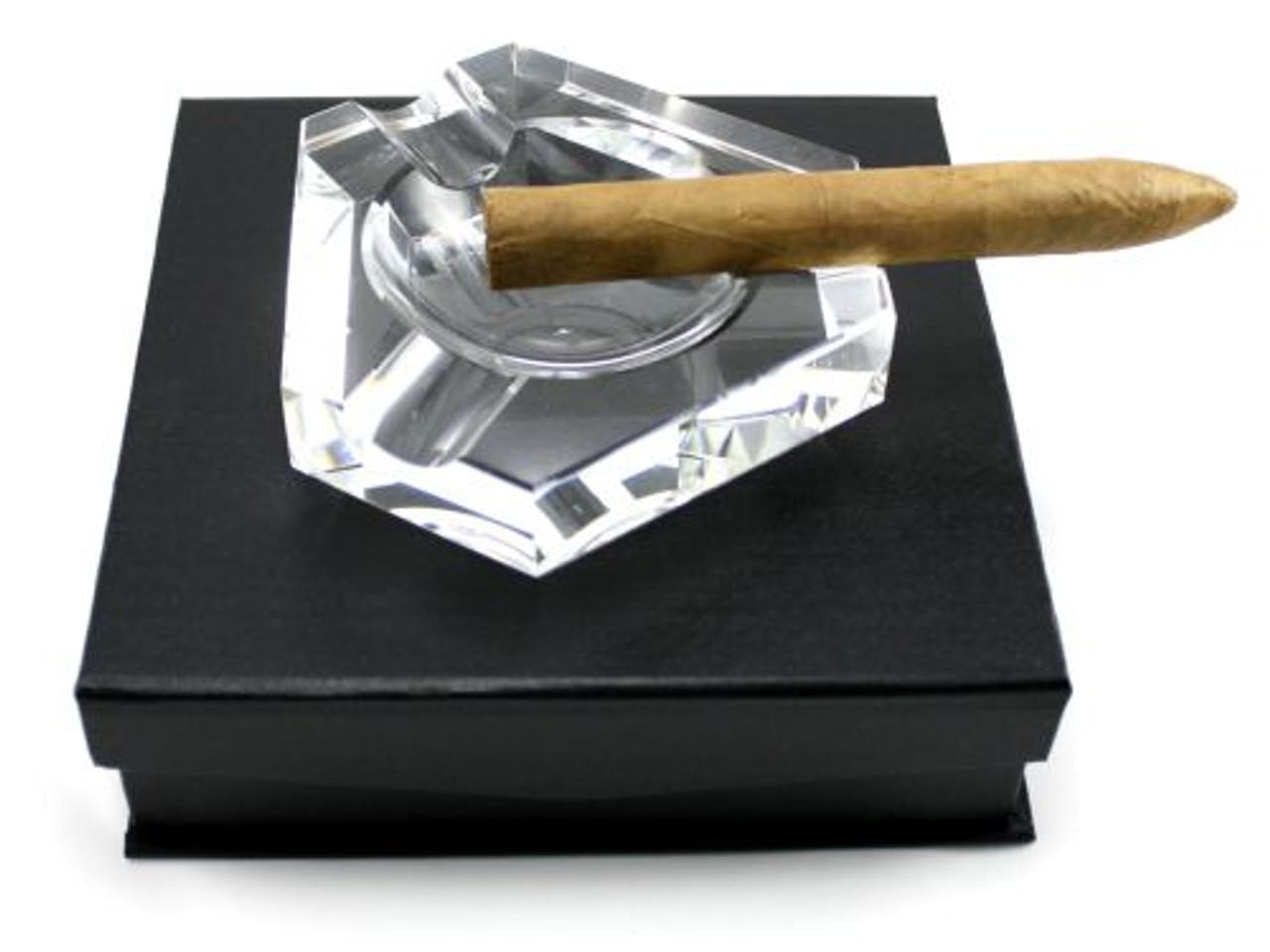 Griffin Crystal Cigar Ashtray