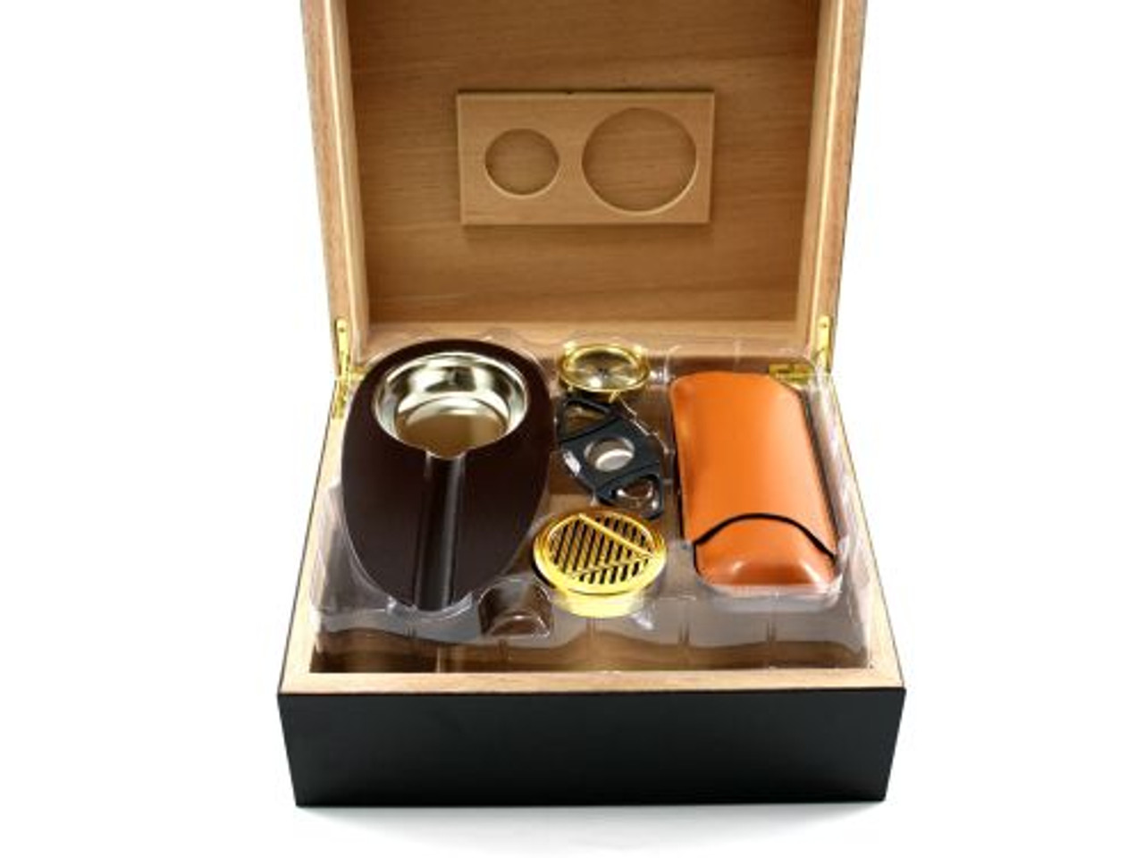 Frederick with Brown Cigar Humidor Gift Set