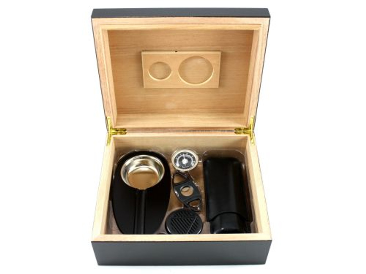 Frederick with Black Cigar Humidor Gift Set
