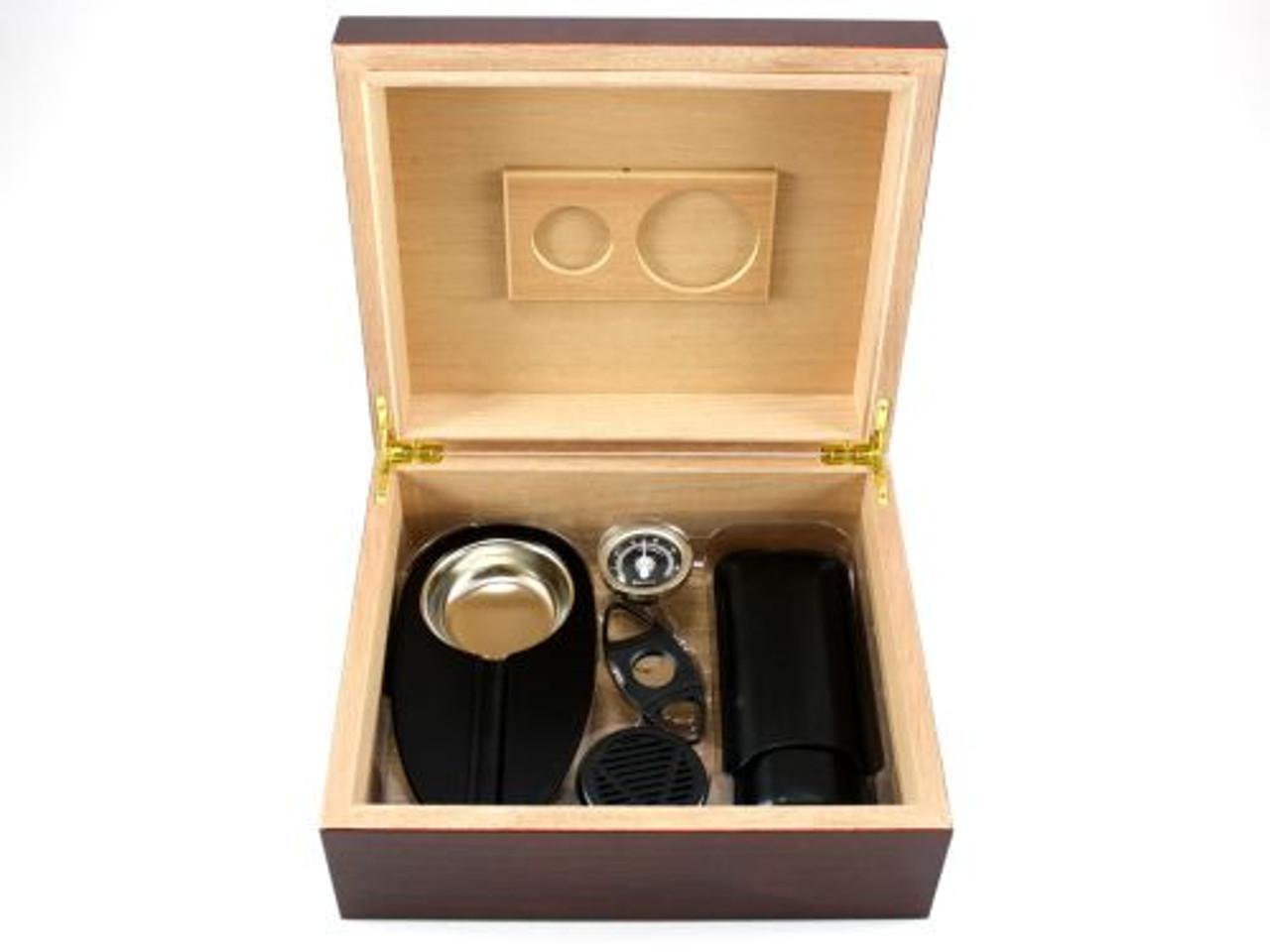 Madison with Black Cigar Humidor Gift Set