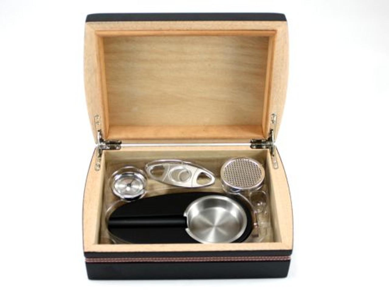 Hartford Cigar Humidor Gift Set