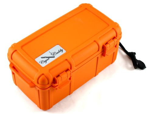 Cigar Caddy Orange 15 Stick Travel Cigar Humidor
