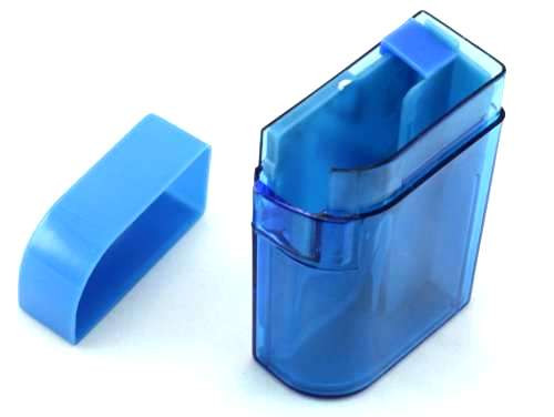 Clear Blue Plastic Cigarette Case
