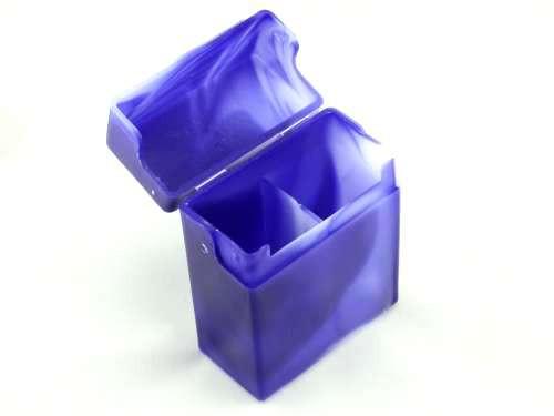 Blue Marble Plastic Cigarette Case