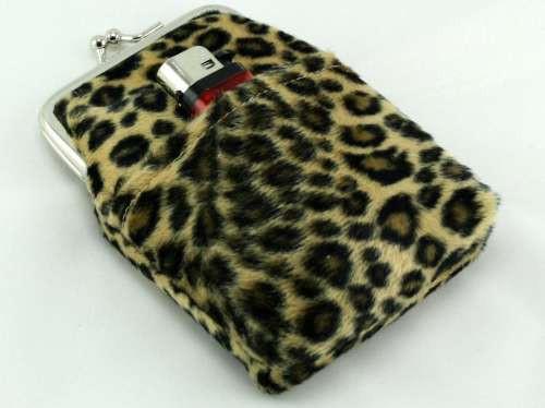 Leopard Fur Cigarette Pack Holder