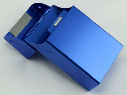 Blue Flip Cigarette Pack Holder