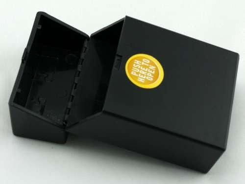 Black Push Cigarette Pack Holder