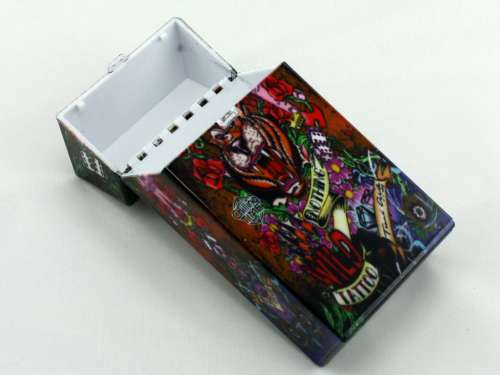 Dice 100 Tattoo Cigarette Pack Holder