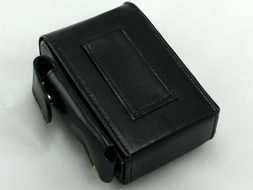 Golden Black Leather Cigarette Pack Holder