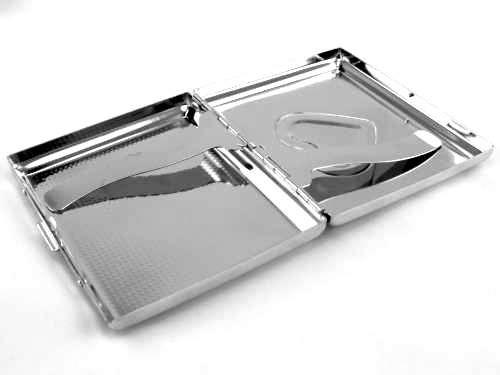 Crystal Heart Cigarette Case