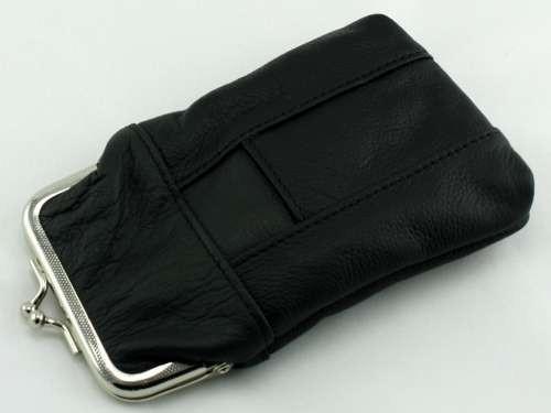 Black Leather 120 Cigarette Pack Holder