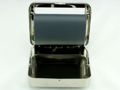Silver Square 79mm Automatic Cigarette Roller