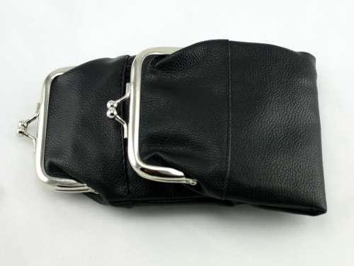 Black Leather Purse Cigarette Pack Holder