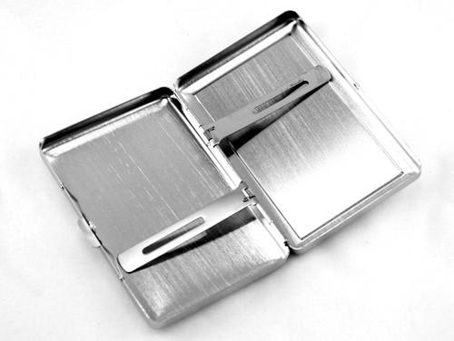 Magenta Rain Stone 100 Cigarette Case