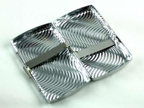 Silver Wave Cigarette Case