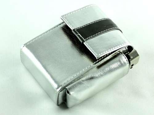Metallic Silver Cigarette Pack Holder