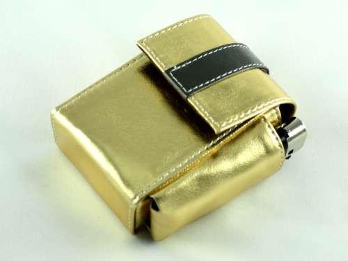 Metallic Gold Cigarette Pack Holder