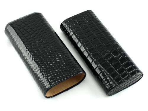 Black Alligator Cigar Case