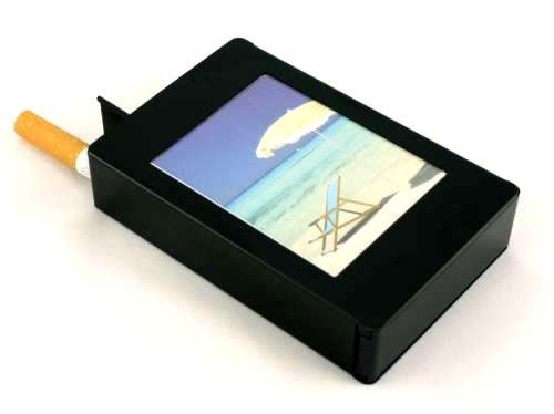 Black Picture Frame Auto Dispensing Cigarette Case