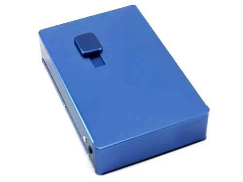Blue Picture Frame Auto Dispensing Cigarette Case