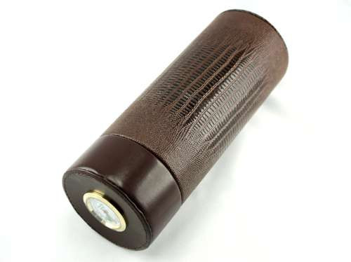 Brown Snake Infinity Cigar Tube with Hygrometer and Humidifier