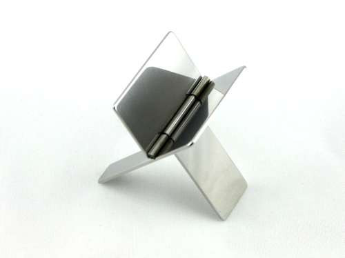 Stainless Steel Silver Cigar Holder