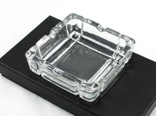 Square Glass Heavy Duty Cigarette Ashtray