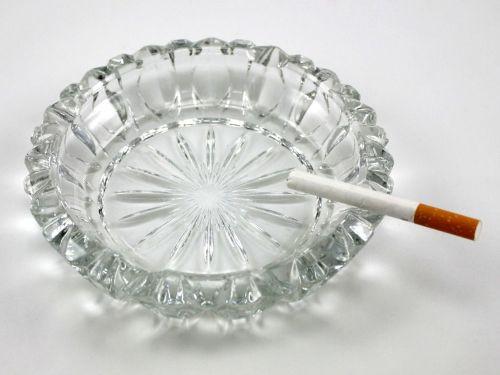 Nolan Glass Cigarette Ashtray