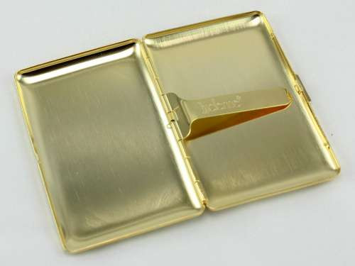 Lucienne Gold Etched Cigarette Case