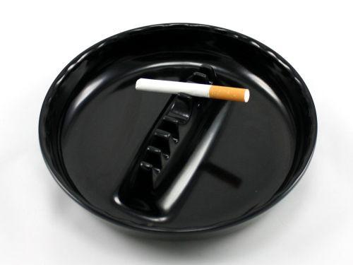 Large Black Cigarette Ashtray