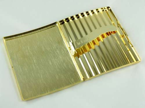 Lucienne Gold Mesh Cigarette Case