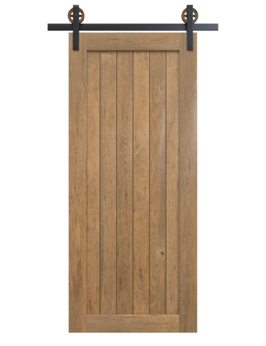 Stained Wood Sliding Barn Doors