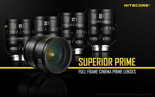 Nitecore Full Frame Prime Cine Lens Set of 5 with PL Mount