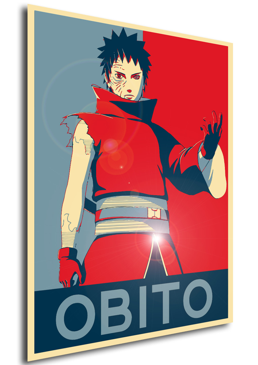 Poster Propaganda Naruto Obito Uchiha Propaganda World